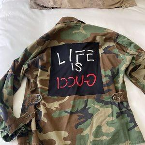 """Oversized custom """"army"""" jacket"""